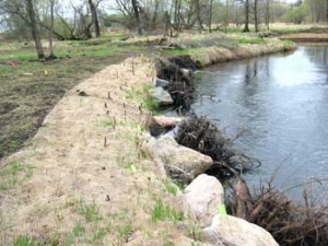 Bank stabilization along the Vermillion, Photo Source: Metropolitan Council