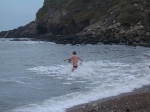 January swim in England.