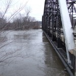 The Highway 99 bridge in Saint Peter was closed due to high water.