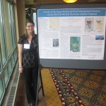 Melissa presents her poster on the proposed flood diversion for the Fargo-Moorhead area at the Natural Hazards Workshop in Colorado this July.