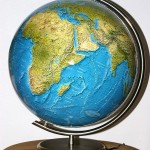 Raised Relief Globe. Image: Christian Fischer, Wikemedia Commons.