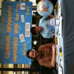 Matt and Jory help celebrate Geography Awareness Week at Gustavus.
