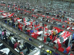 A garment factory in Bangladesh. (Photo by Fahad Faisal. Creative Commons License.)