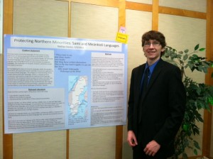 Nate is studying geolinguistics of Northern Scandanavia.