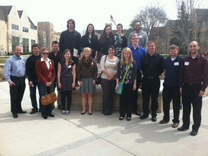 Gustavus Geography majors at MUGS 2014, hosted by the University of St. Thomas