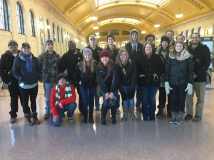 Here is the class in the St. Paul Union Depot.