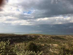 Clouds roll in over Lake Enriquillo, Dominican Republic, last month. The lake is both the largest lake in the Caribbean and the lowest elevation in the Caribbean. Over the past decade, the lake has greatly expanded, flooding a village and acres of farmland.