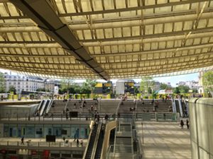 The canopy of Les Halles gives the impression of openness and inclusion